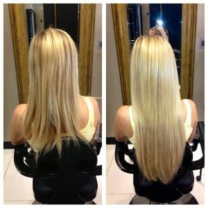 Blondinka z dolgimi lasmi